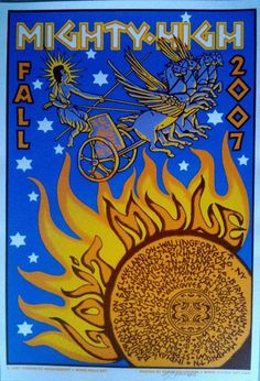 Original concert poster for Gov't Mule Mighty High Fall tour 2007. 15 x 22 inch 5 color silkscreen print.