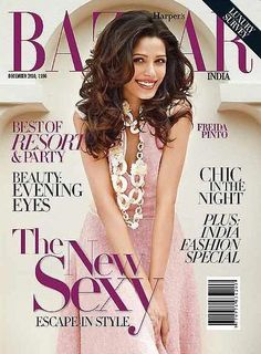 Who made Frieda Pinto's pink dress that she wore on the cover of Harper's Bazaar? Freida Pinto, Glamour Magazine, Fashion Mag, Rachel Bilson, Princess Caroline, Pippa Middleton, Eva Longoria, Indian Models, Miranda Kerr