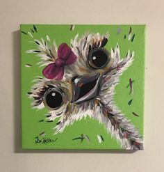 """""""Molly"""" Ostrich Canvas Painting"""