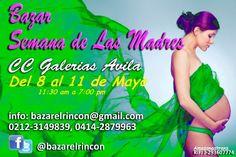 Bazar Semana de las Madres, del 8 al 11 de #Mayo CC Galerias Avila http://goo.gl/tkqJRG Vía @April Bazar elrincon