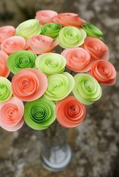 Spring Fling - Paper Rosettes Bouquet Spring Collection 2011 by My Bohemian Summer on Etsy $40