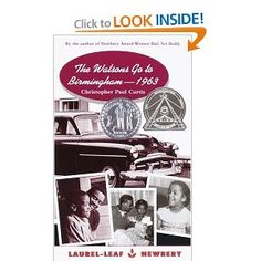 This is one of the first chapter books I remember reading! Christopher Paul Curtis is one of my favorite author! The Watsons Go to Birmingham - 1963 by Christopher Paul Curtis Birmingham 1963, Books To Read, My Books, Library Books, 5th Grade Reading, Out Of Touch, This Is A Book, Reading Levels, Reading Groups