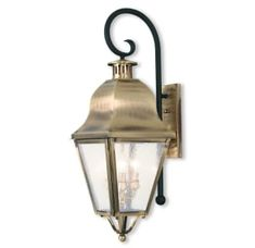 Shop for Livex Lighting Amwell Antique Brass Outdoor Lantern. Get free delivery On EVERYTHING* Overstock - Your Online Outdoor Lighting Store! Brass Outdoor Lighting, Livex Lighting, Outdoor Wall Lantern, Outdoor Wall Sconce, Exterior Lighting, Outdoor Walls, Porch Lighting, Outdoor Living, Traditional Lighting