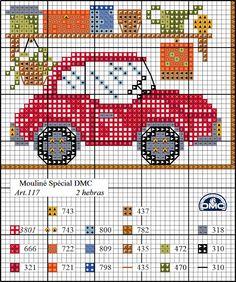 El blog de Dmc: Último diagrama casa punto de cruz: el garaje
