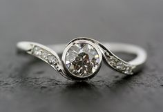 Art Deco Diamond Ring  Engagement Ring  Antique by AlistirWoodTait, £2,900.00
