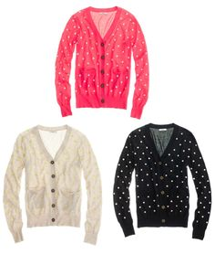 Polka dot cardigans...one of each, please!