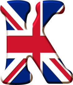 Alfabeto de la Bandera de Inglaterra.                              …