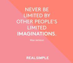 Inspiring words from Mae Jemison.