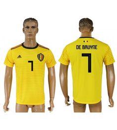 Belgien Kevin De Bruyne 7 Auswärtstrikot WM 2018 Herren Eden Hazard, Polo Ralph Lauren, Polo Shirt, Sports, Mens Tops, Fashion, World Cup 2018, Men Wear, Sleeves