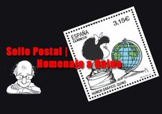 La serie de Sellos postales de España en tributo a Humoristas le rinde homenaje al autor Argentino, Quino, famoso por su personaje de Mafalda.
