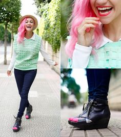 Chicwish Blouse, Amelie Shoes, Guess? Jeans