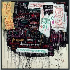 Jean-Michel Basquiat - Museum Security (Broadway Meltdown)