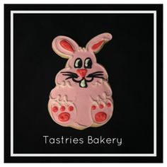 Pink Bunny Designer Cookie. Tastries Bakery, Bakersfield