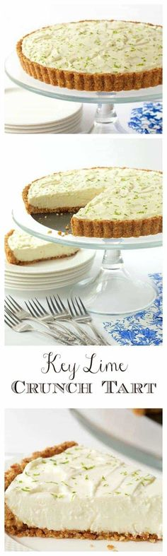 With a crunchy coconut-almond shortbread crust and a creamy, light, key lime filling, this easy, make-ahead dessert is ALWAYS a hit! via @cafesucrefarine