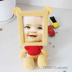 Crochet pattern Photo Frame, crochet, crochet doll