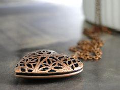 SALE Jewelry Heart Necklace Heart Filagree Locket by wulfgirl #integritytt