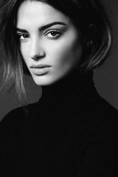 black and white pictures of models
