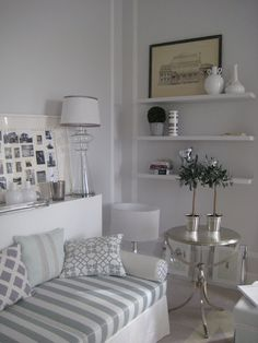 silver side table gray white living room
