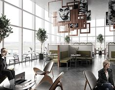 Interior Garden, Interior Design, Airports, Living Spaces, Behance, Lounge, Photoshop, Studio, Architecture