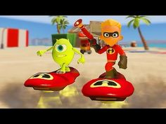 Disney Pixar The Incredibles and Monster Inc | Dash and Mike Fun with Ai...