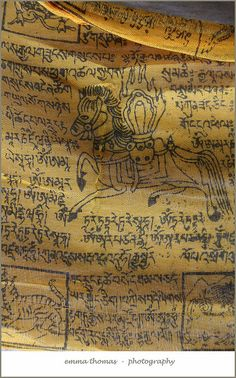 Tibetan prayer flag detail