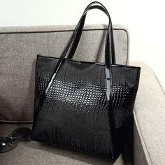 2016 serpentine pattern fashion women handbag big patent leather bags handbags women famous brands shoulder bags bolsos