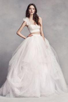 White by Vera Wang Tulle Skirt - Davids Bridal