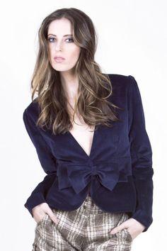 Velvet jacket.