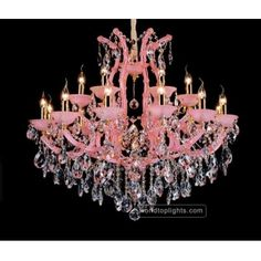 China Pink Chandelier