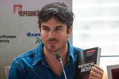 Ian Somerhalder - Press conference Ivana Chubbuk - Moscow, Russia 27/05/2013