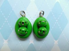 Kawaii Peas in a Pod Charm Best Friends Charm BFF Jewelry via Etsy