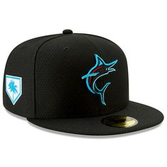separation shoes e1b08 c6267 New Era Authentic Collection Miami Marlins 2019 Spring Training Game Hat -  Black