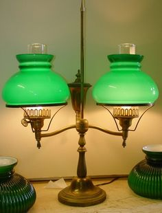 Image result for marble base bankers lamp