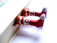 Christmas+socks+Red+Christmas+socks+Red+and+white+by+BookBookmarks,+$25.00