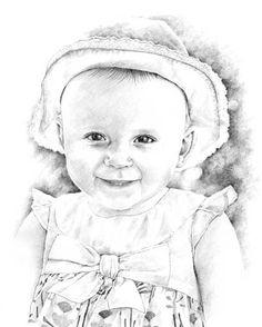 Baby pencil portrait drawing | Kleurplaten volwassenen | Pinterest ...