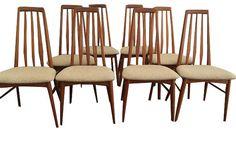 Set of 8- Vintage Koefoeds Hornslet Mid Century Modern Dining Chairs