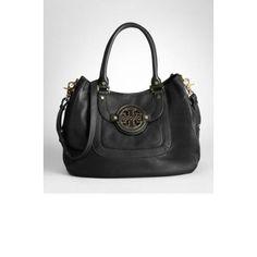 Tory Burch Pebbled Leather Amanda Hobo Handbag