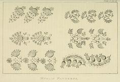 Needlework pattern. Ackermann Jan 1822