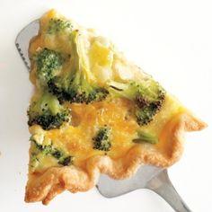 Broccoli Cheddar Quiche Recipe - Delish.com
