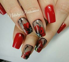 The problem is so many nail art and manicure designs that you'll find online Sexy Nails, Hot Nails, Fancy Nails, Pretty Nails, Hair And Nails, Nagellack Design, Flower Nail Art, Nail Swag, Fabulous Nails