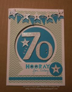 Can be used for any number birthday card and any colour combo