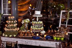 Sweet Love! A dessert table seems so right for a wedding celebration!