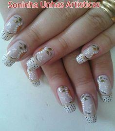 Uñas decoradas.. Gel Nails, Nail Polish, Short Nails, Nail Designs, Nail Art, Saris, Beauty, Acrylics, Ideas Para