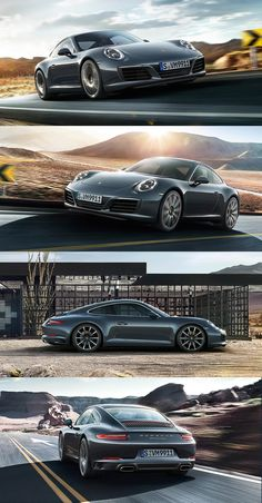 The new Porsche 911 Carrera. New front and rear design with four-spot LED daytime running lights, three-dimensional taillights and four-spot brake lights. *Fuel consumption in accordance with EU 6: 911 Carrera 2 models: Combined: 8.8-7.4 l/100 km (32.1-38.2 mpg); CO2 emissions: 202-169 g/km.