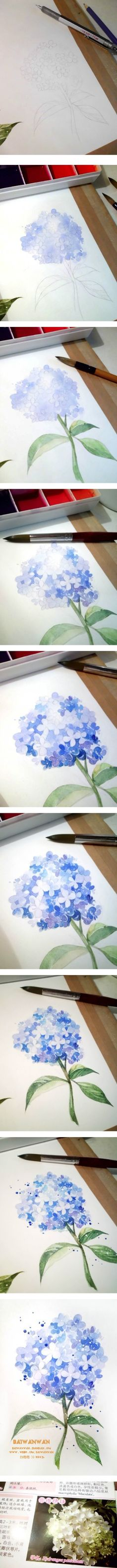20 Delicate Colorful Watercolor Flowers Painting Tutorials In Images Watercolor Tips, Watercolour Tutorials, Watercolor Techniques, Watercolour Painting, Art Techniques, Watercolor Flowers, Painting & Drawing, Watercolors, Painting Flowers