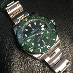 Buy the Rolex Submariner in stainless steel with green dial at GWS today. Fast & Free delivery service available anytime at Global Watch Shop. Rolex Watches, Watches For Men, Best Looking Watches, Must Have Gadgets, Cost Of Goods, Pre Owned Rolex, Rolex Submariner, Stainless Steel Bracelet, Exotic