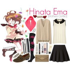 Hinata Ema [Brothers Conflict] by anggieputeri on Polyvore featuring Darling, Uniqlo, Alexander Wang, Bettye Muller, Mulberry, Yves Saint Laurent, NLY Accessories, NARS Cosmetics, Clinique and Becca