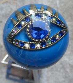 HouseOspeed - Hot Rod Shift Knob - Blue Crystal Third Eye Shift Knob, $75.00 (http://www.hotrodshiftknob.com/blue-crystal-third-eye-shift-knob/)