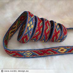 Brickvävt band / Tablet weaving -  Snartemo