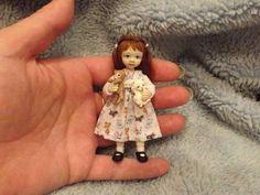 Miniature Handmade Mini Girl Child Kittens OOAK Doll House Artist Dollhouse | eBay